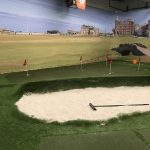 putting green and bunker